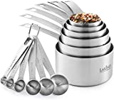 Stainless Steel Measuring Cups and Spoons Set, Heavy Duty 12 pcs set, 6 Measuring cups and 6...