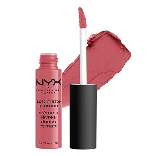 NYX Professional Makeup Lippenstift, Soft Matte Lip Cream, Cremiges und mattes Finish, Hochpigmentiert, Langanhaltend, Vegane Formel, Farbton: Cannes