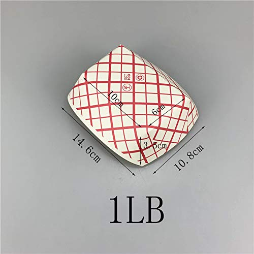 LYLXY Nacho Trays 1/4Lb 1/2Lb Lib 3Lb 12Pcs Red Plaid Printed Disposable Paper Food Tray Boat Fast Food Tray Containers Picnic Party Supplies|Gift Bags & Wrapping Supplies