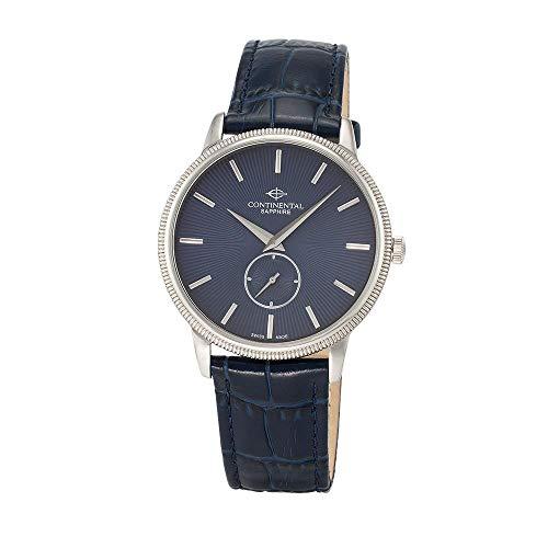 Continental Herrenarmbanduhr 21/15201-GT158830 Leder blau