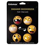 Knixmax Sneaker Deodorizer Balls, Shoe Gym Bag Locker Car Air Freshener, Creative Gifts Facial Experssions Happy Sad Surprised Prints 6 Balls