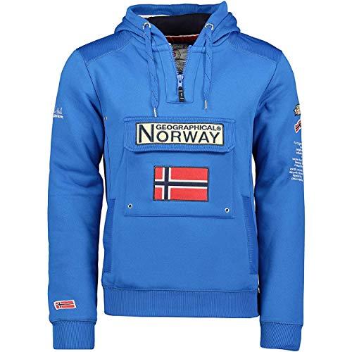 Geographical Norway GYMCLASS Men - Sudadera Capucha Bolsillos Hombre - Chaqueta Casual Hombres Abrigo - Camisetas Camisa Manga Larga - Hoodie Deportiva Regular Fitness Jacket Tops (Azul Real)