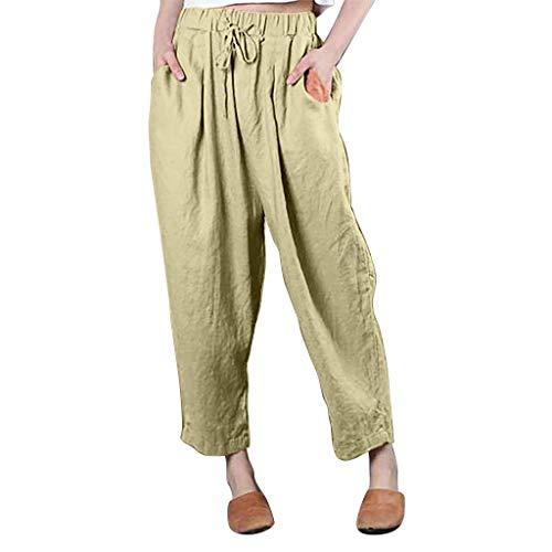 ITCHIC Taglie Forti Pantaloni da Donna A Tinta Unita Pantaloni Larghi Pantaloni Solidi Pantaloni Casual Allentati Pantaloni Casual da Donna di Grandi Dimensioni con Cinturino in Tinta Unita