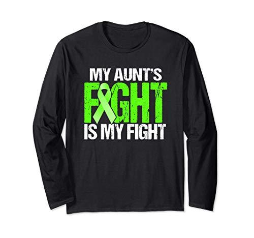 Camisa de cáncer de linfoma La lucha de la tía es mi lucha Manga Larga