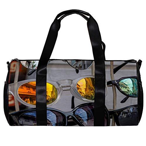 TIZORAX Seesack für Damen und Herren, modische Sonnenbrille, Sport, Fitnessstudio, Reisetasche, Outdoor, Gepäck, Handtasche