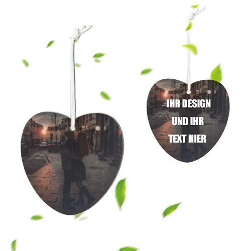 Personalisierte Auto-Lufterfrischer Foto/Person Anpassen, bieten langanhaltende Geruch für Autos oder Familien (Liebe)