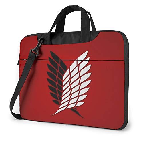 15.6 Inch Laptop Sleeve Bag, Attack On Titan Tablet Briefcase Ultra Portable Protective Shoulder Shockproof Laptop Sleeve Case Bag Cover MacBook Pro/MacBook Air/Notebook Computer