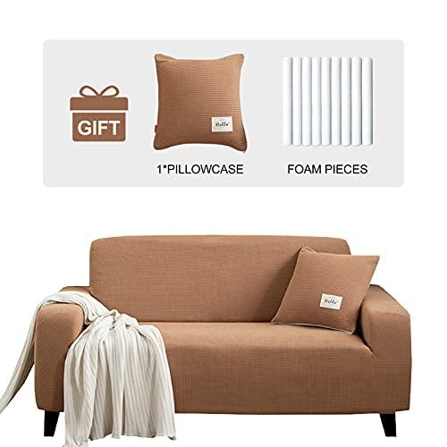 JOYDREAM - Fundas de sofá elásticas para 4 cojines de sofá de gran tamaño, fundas de sofá elásticas, fundas de sofá de color...
