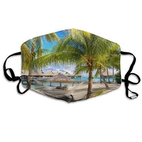 Zand Tropische Vakantie Hangmat Palm Bomen Zwembaden Unisex Volledige Coverage Buis Gezicht Masker Bandanas UV Bescherming Hals Gaiter Hoofdband