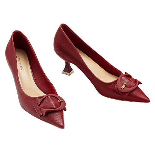 C.PARAVANO Tacones Rojos I Zapatos de Tacón I Tacones Altos para Mujer...