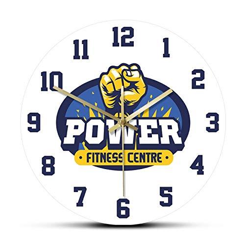 hufeng Reloj de Pared Fitness and Gym Center Power Training Deportes Reloj de Pared de Cuarzo Reloj Relojes Diseño Moderno Decoración para el hogar