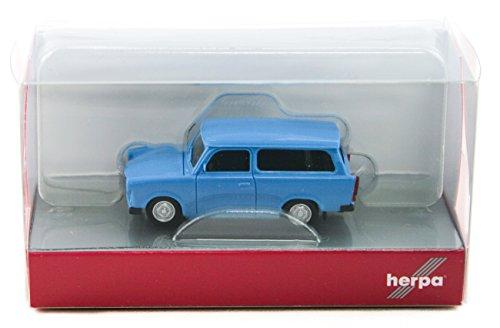 Herpa 020770-005, Light Blue Trabant 601 S Universal, hellblau, farbig