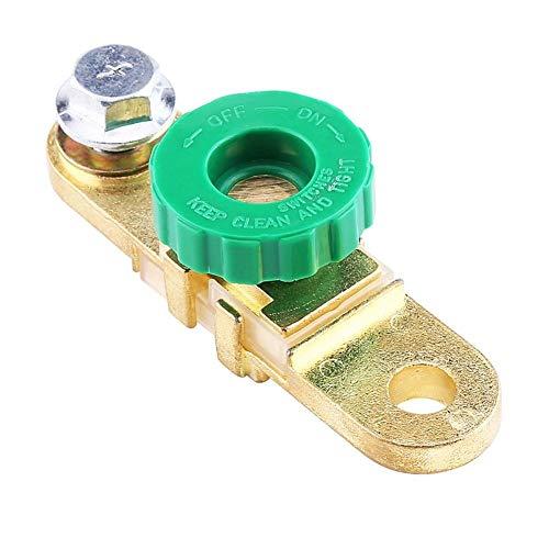Outbit batterij-aansluitschakelaar - 1 st. Groene kop auto-accu-aansluitingsschakelaar sneluitschakeling auto-accessoires scheiden