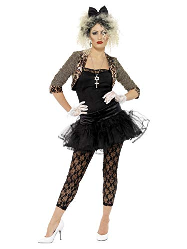 Smiffy's Women's 80S Wild Child Costume - Desperately Seeking Susan Madonna - Sizes 10 to 20