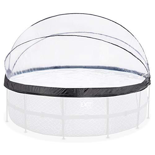 EXIT - Pool Abdeckung - rund, ø450cm, transparent, Überdachung für Aufstellpools, universal, komplett abklappbar, Poolzubehör