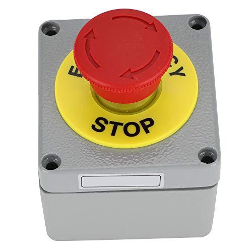 SSPKTY Caja De Interruptores 1 Botón De Control De Parada De Emergencia Caja De Operación IP66 A Prueba De Polvo A Prueba De Agua 80x75x6080x75x60