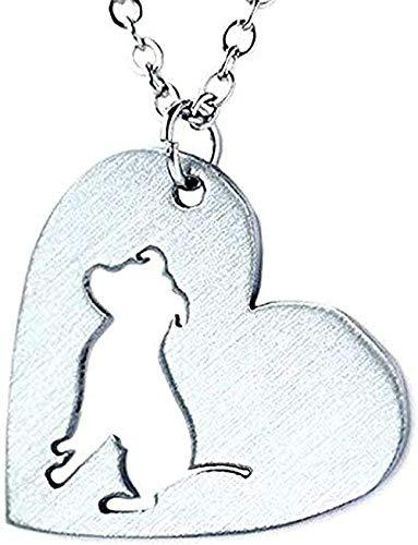 Collar de acero inoxidable en forma de corazón collar de pitbull pitbull collares de perro gargantilla cadena colgante animal nuevo cachorro para mujeres regalos para mujeres hombres regalo regalos