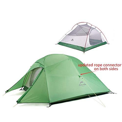 Naturehike Cloud-up 3 Tienda de Campaña Ultraligera para 3 Personas - Tienda Impermeable de Doble Capa para Trekking, 4 Estaciones(Verde)