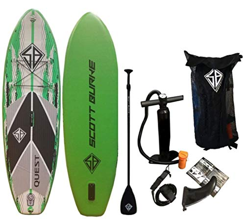 Scott Burke Quest Series 8ft Inflatable Paddle Board Package