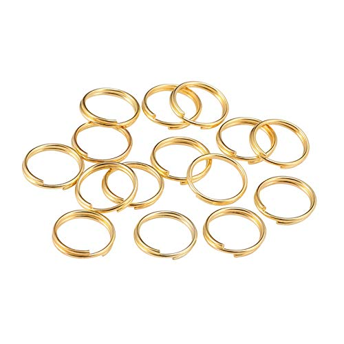 Jewelry Accessories 200pcs/lot Open Jump Rings Double Loops Split Rings Connectors For Jewelry Making Supplies DiY for Jewelry and Crafts Making (Color : Gold, Size : 16mm x 100Pcs)