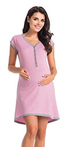 Di Vadini Franca, camicia da notte, per allattamento, 100% cotone viola. S
