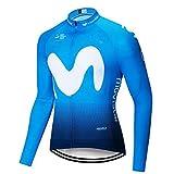 SUHINFE Hombres Jersey Manga Larga de Ciclismo Ropa Maillot Transpirable para Deportes Al Aire Libre Ciclo Bicicleta