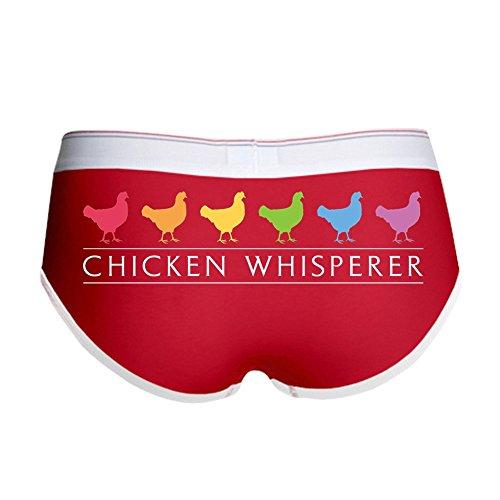 CafePress Chicken Whisperer Women's Boy Brief, Boyshort Panty Underwear with Novelty Design Red/White
