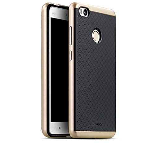 Tumundosmartphone Funda Tipo Neo Hybrid (PC+TPU) Negra/Dorada para XIAOMI MI 4S