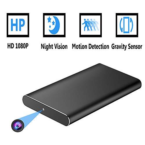 oumeiou Powerbank mit Spionagekameras, 8000 mAh, tragbares Ladegerät mit 1080P HD versteckte Kamera, Bewegungserkennung, Nachtsicht, bis zu 40 Stunden Aufnahmezeit, Loop-Aufnahme, geheime Kamera