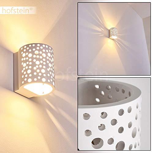 Wandlamp Glinsterende keramiek wit, wandlamp met lichteffect voor gang, woonkamer, slaapkamer - Deze lamp kan met standaard kleuren worden geschilderd