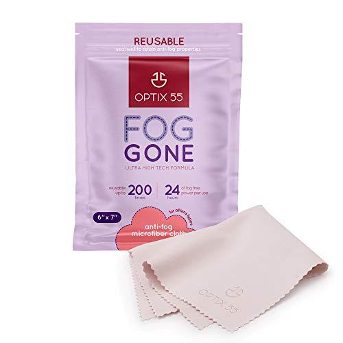 Fog Gone Anti Fog Wipe for Glasses Reusable Anti Fog Microfiber Cleaning Cloth Lens Wipe Prevents Fogging on Eyeglasses AR Coated amp All Lenses Electronics Ski Masks Screens  StreakFree 1 Pack