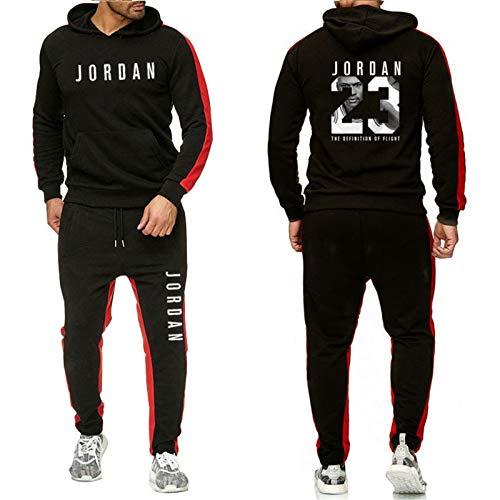 Terbou Herren Trainingsanzug Set Kapuzenpulli Hose Jordan 23# Basketballkleidung Unisex Long Sleeve Hoodies Sportbekleidung Geeignet Für Männer Frauen
