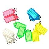 50 pezzi Plastica con nome e numero ID Tag-Etichette per portachiavi Color plastica Chiave Tag ID Tag Etichette Portachiavi con Nome Carte 6 colore