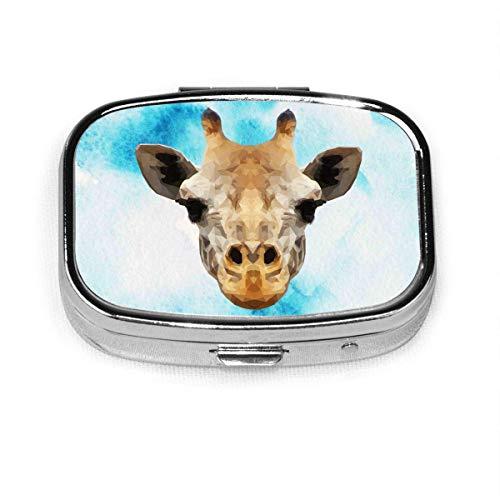 Caja cuadrada de la píldora de la manera de la jirafa de la medicina de la vitamina titular de