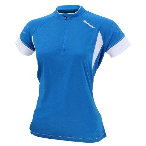 Ziener - Maillot de Ciclismo para Mujer, tamaño 44 UK, Color Rojo