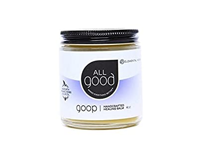 All Good Goop Organic Handcrafted Balm & Ointment | For Dry Skin/Lips, Cuts, Scars, Blisters, Diaper Rash, Insect Bites, Sunburn, & More (4 oz)
