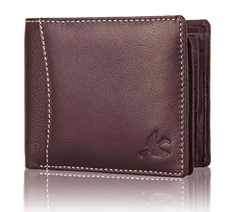 Hornbull Themes Brown Mens Leather Wallet | Stylish Leather Wallet for Mens | RFID Blocking Genuine Leather Mens Wallet