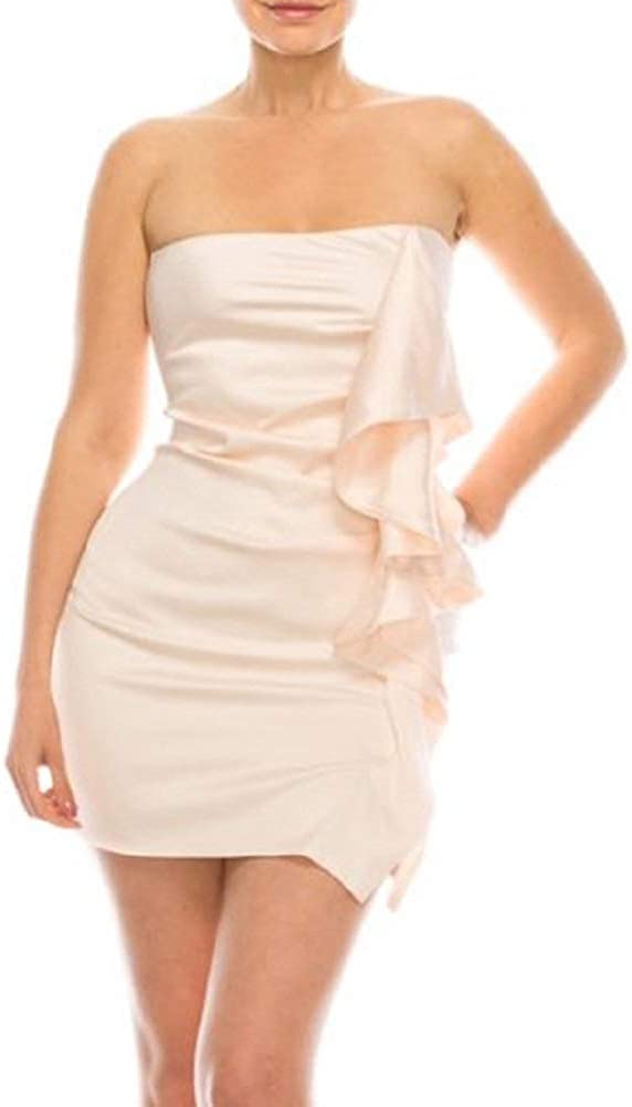 ALWAYS IN STYLE RECORDS Women's Sexy Tube Top Strapless Mini Dress Stretch Bodycon Party Club Dresses