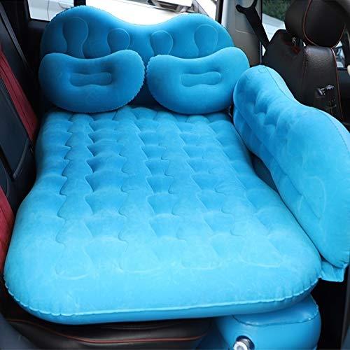 Reisen mit dem Auto aufblasbares Bett Universal-Auto-Spielraum aufblasbare Matratze Luftmatratze Camping Back Seat Couch mit Kopfschutz + Weit Side Baffle (schwarz) Asun (Color : Baby Blue)