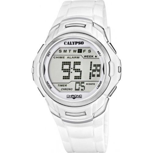 CALYPSO Reloj by Festina Unisex Digital multifunción Blanco - k5611-1