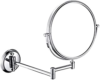 Makeup Vanity Mirror, 3X Magnification Beauty Mirror Two-Sided Wall Mounted Bathroom Mirror 360° Swivel Extendable Cosmetic Mirror,Nickel_6inch, Bathroom