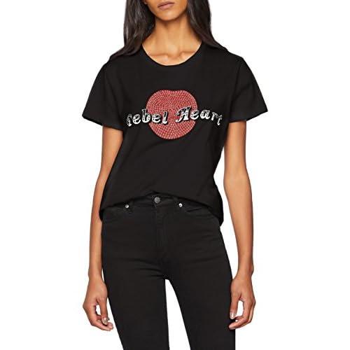 Pinko Denis T-Shirt Jersey di Cotone (Nero Limousine Z99), Medium (Taglia Produttore:M) Donna
