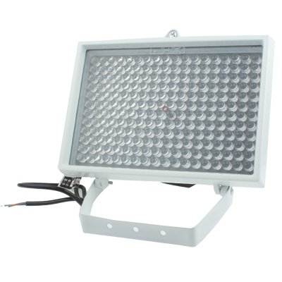 GJPAJGID Bewakingscamera 216 LED-hulplicht voor CCD-camera, IR-afstand: 200m (ZT-200WF), Grootte: 17x25x13.5cm (wit)