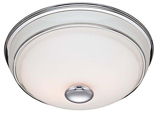 Hunter 81021 Ventilation Victorian Bathroom Exhaust Fan and Light Combination, Silver (Bathroom Vent Fan, Exhaust Fan)