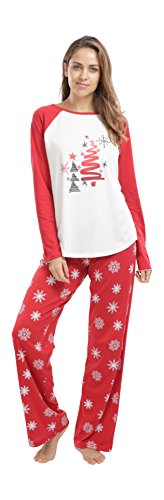jijamas Incredibly Soft Women's Christmas Pajamas Set - The Oh Christmas Tree
