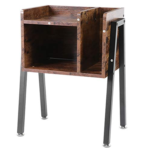 Bedside Table Storage Side Table Stylish Stackable Side Table for Bedside Table with Vertical for Classified Storage and Personalised Design Used 41 x 30 x 60 cm