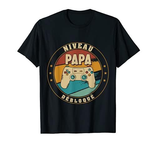 Homme Nouveau Papa Parents Humour Gamer Nouvelle Naissance Annonce T-Shirt