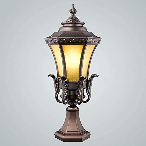 Leuchter,leuchter lampe Victorian Villa Garten-Hof Landschaft Säule Lampe Park Eingang Pole Straßenlaterne Landschaft Lampe 60CM Luxus im europäischen Stil im Freien Säule Lampe Aluminium Glas Aussehe