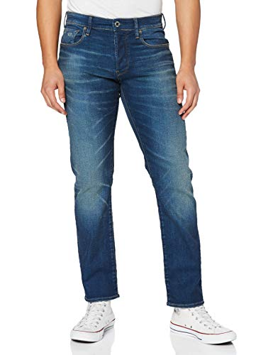 G-STAR RAW Herren Jeans 3301 Tapered Fit, Blau (Worker Blue Faded A088-A888), 32W / 32L