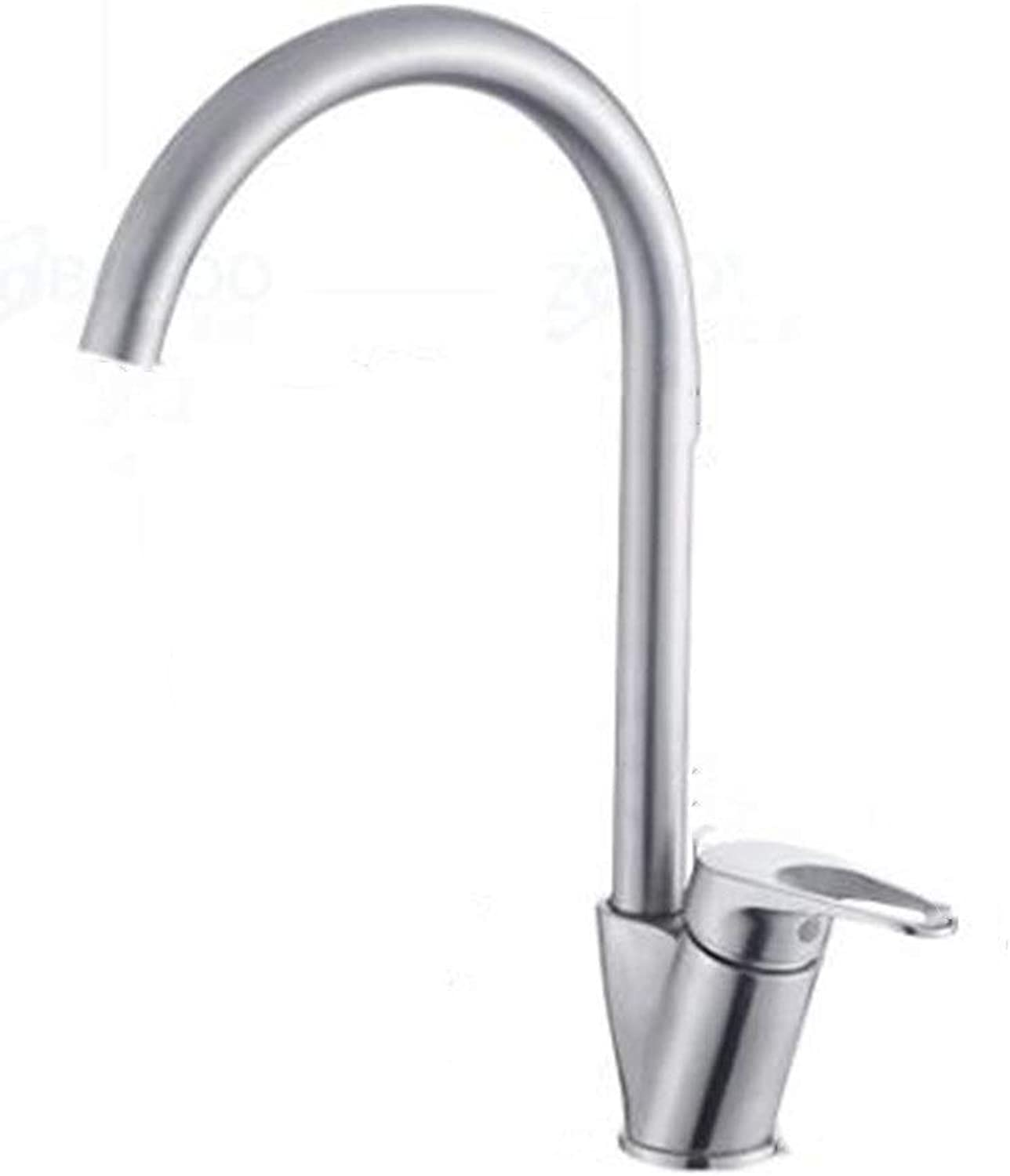 Stainless steel kitchen faucet bathroom sink sink hot and cold stainless steel faucet